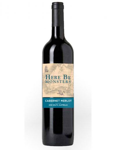 Here Be Monsters Wine Label