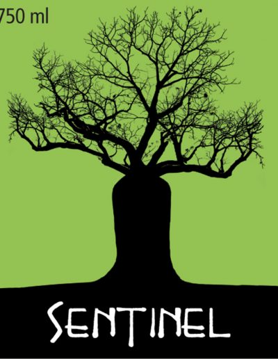 Sentinel Green Wine Label