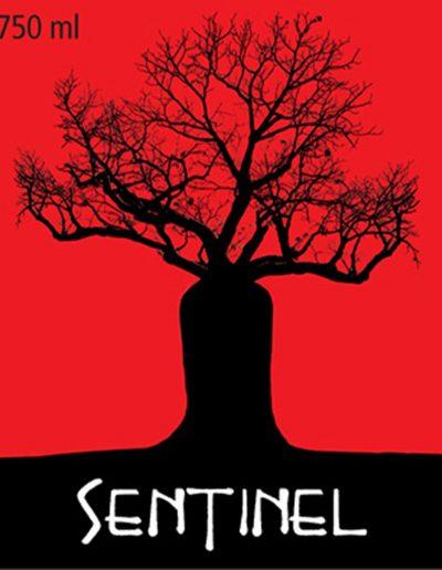 Sentinel Red Wine Label