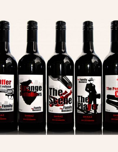 The Family Business Wine Label